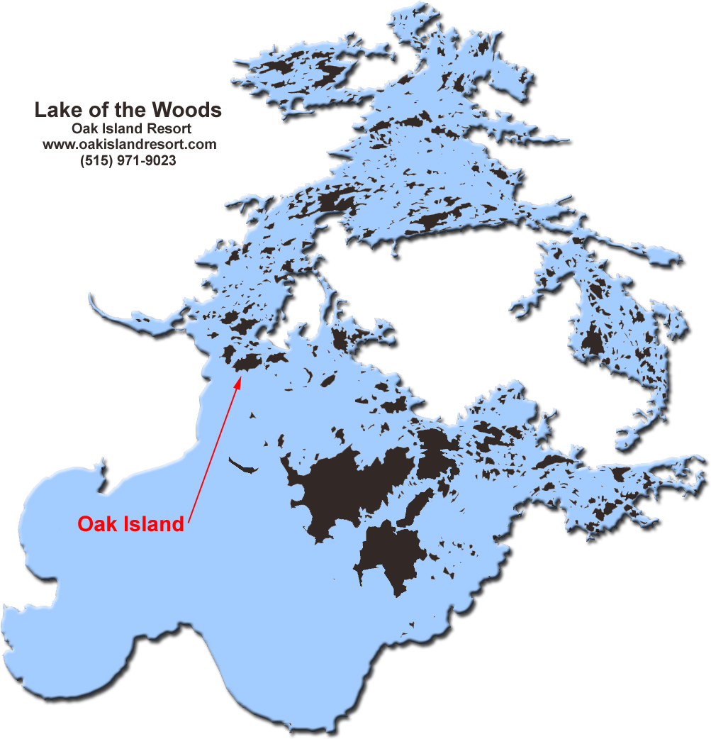 Map Of Lake Of The Woods Ontario Map Lake of the Woods
